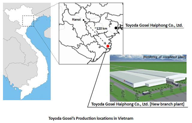 Toyoda Gosei's Production locations in Vietnam